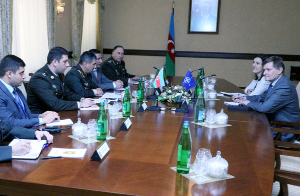 Photo: Azerbaijani defense minister receives NATO parliamentary assembly president