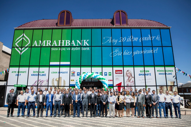 Photo: Amrahbank's  Masalli branch at a new address / Economy news