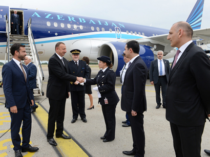 Photo: President Ilham Aliyev arrived in France on a working visit / Politics