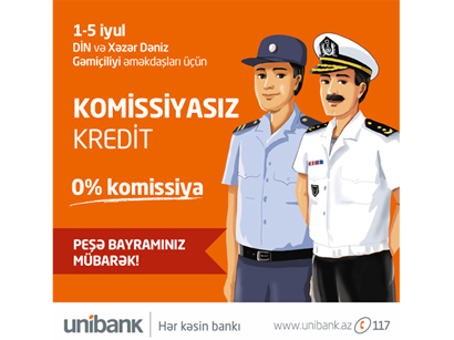Photo: Unibank campaign to celebrate Ministry of Internal Affairs and Caspian Shipping Co. / Economy news