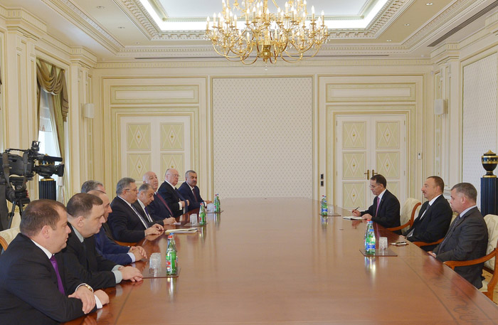 Photo: Azerbaijani president receives Georgian parliament speaker with delegation