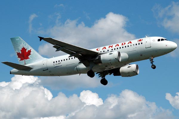 Photo: Air Canada flight delayed by rockets over Tel Aviv