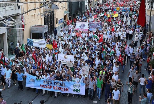 Photo: Turkey begins protests against Israel's military operation in Gaza Strip / Politics