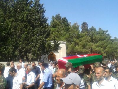 Photo: Young Azerbaijani martyr buried in Sumgayit