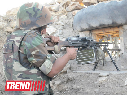 Photo: Armenian armed forces violate ceasefire  / Nagorno-karabakh conflict