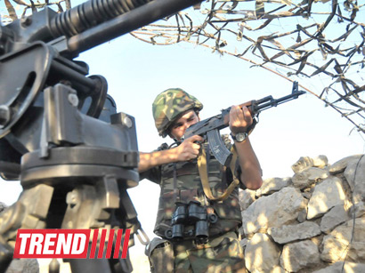 Photo: Armenian armed forces violate cease-fire / Nagorno-karabakh conflict