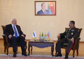 Photo: Azerbaijan's defense minister receives OSCE special representative