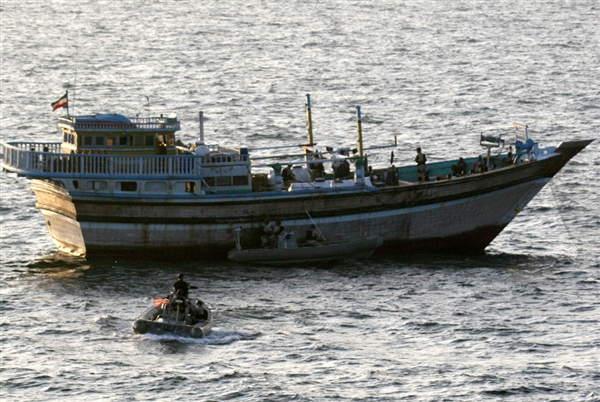 Photo: U.S. Coast Guard fires on Iranian fishing boat / Iran