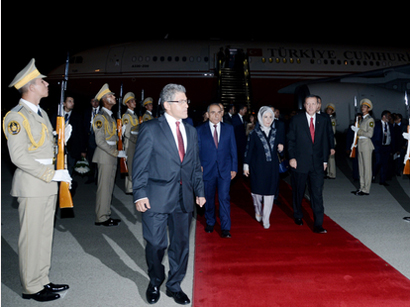 Photo: Turkish President Recep Tayyip Erdogan arrives in Azerbaijan for official visit / Politics