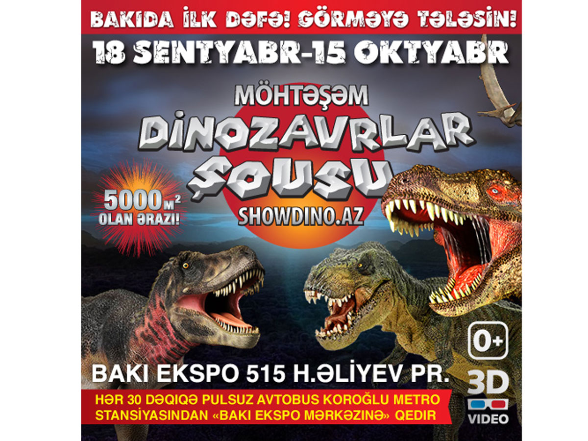 Photo: First time in Azerbaijan – Dinosaurs Show!  / Society