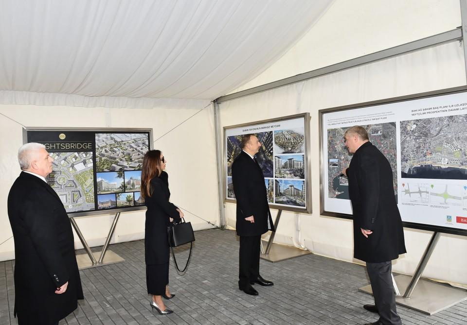 Президент ознакомился с проведенными в «Bakı Ağ Şəhər» работами