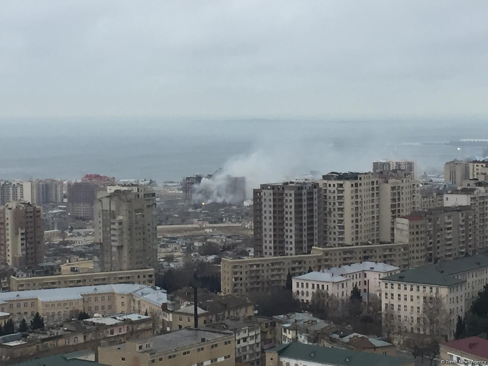 Fire in Baku's Sovetsky: 1 killed, 2 injured (PHOTO/VIDEO) (UPDATED) - Trend News Agency