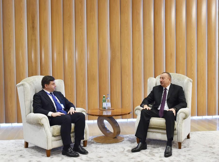 Prezident İlham Əliyev İtaliyanın iqtisadi inkişaf naziri ilə görüşüb - YENİLƏNDİ