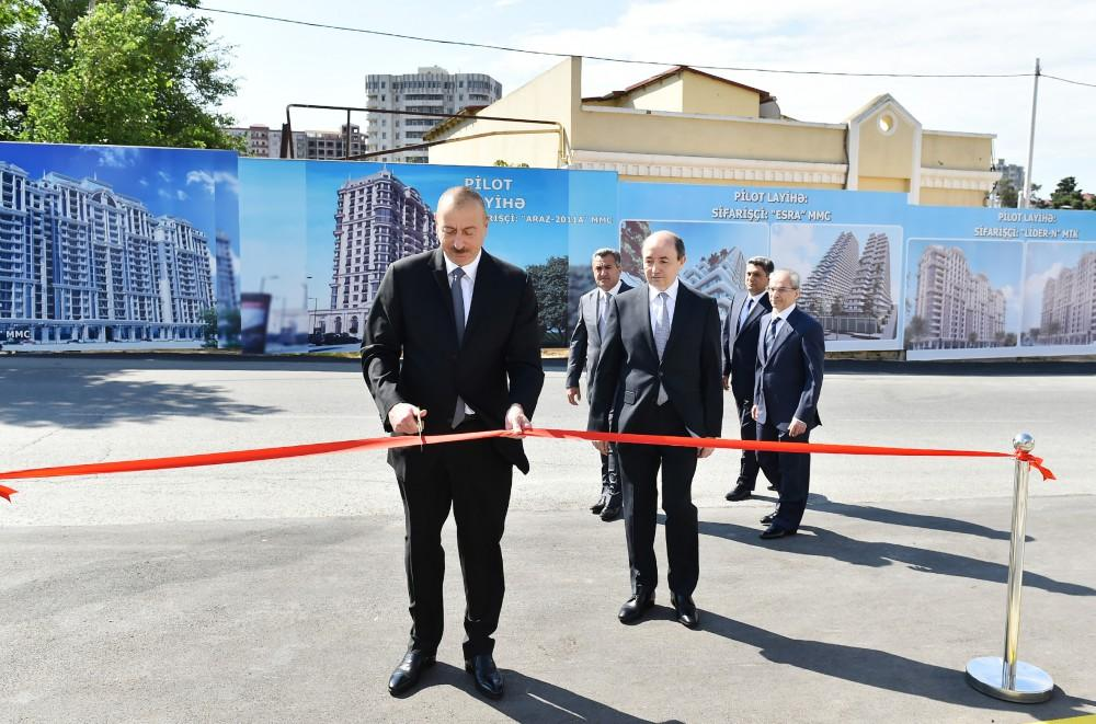Ilham Aliyev opens new administrative building of Narimanov District Court (PHOTO) - Trend News Agency