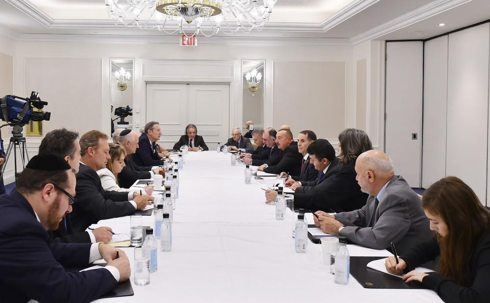 President Ilham Aliyev met with representatives of American Jewish organizations in New York