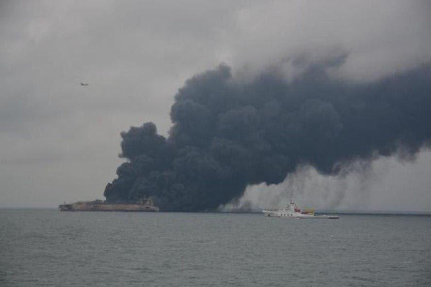 32 missing after Iranian tanker collides with Chinese ship, spills oil