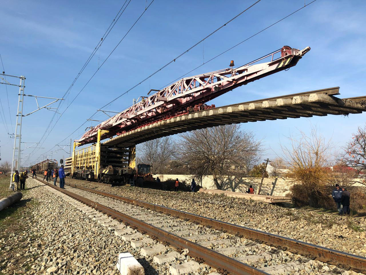 Overhaul of Baku-Boyuk Kasik railway section launched (PHOTO)