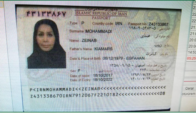 Two Iranian females detained while trying to leave Baku with