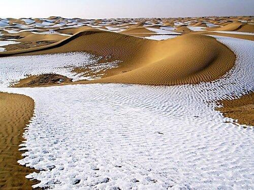 It snowed in one of the hottest places in the world