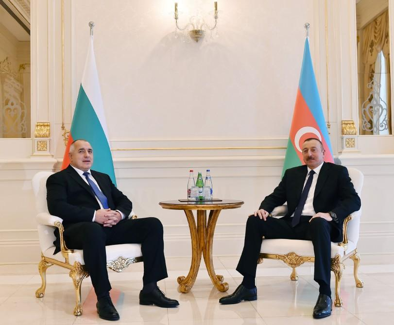 President Aliyev holds one-on-one meeting with Bulgarian PM (PHOTO)