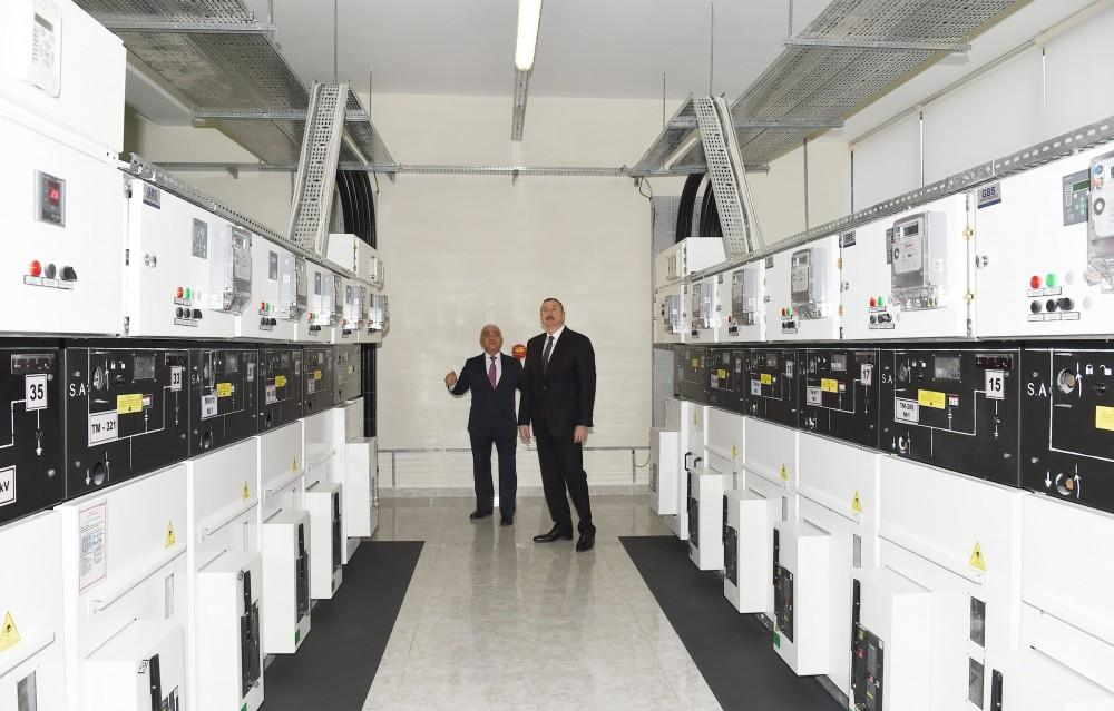 President Aliyev attends opening of Baku distribution network's building (PHOTO)