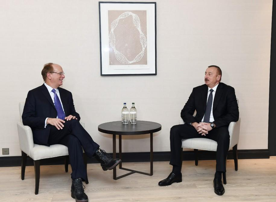 President Ilham Aliyev meets with director of American company Black Rock