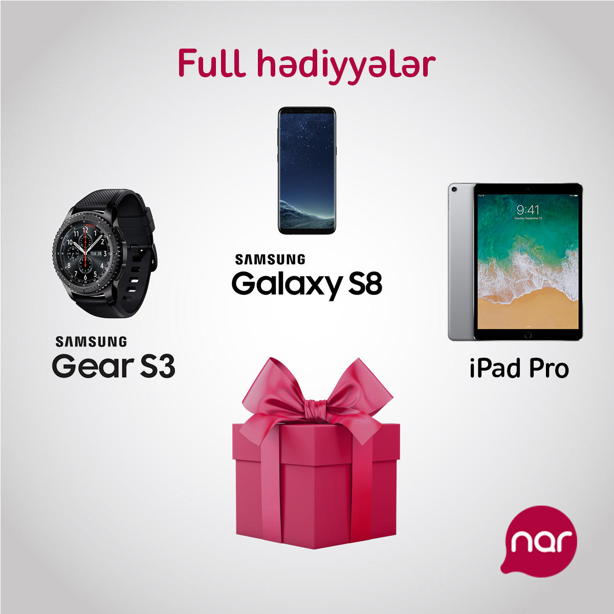 Join to Full package and win Samsung Galaxy S8 or iPad Pro from Nar! (PHOTO)