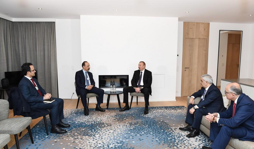 President Ilham Aliyev meets with Saudi energy minister (PHOTO)