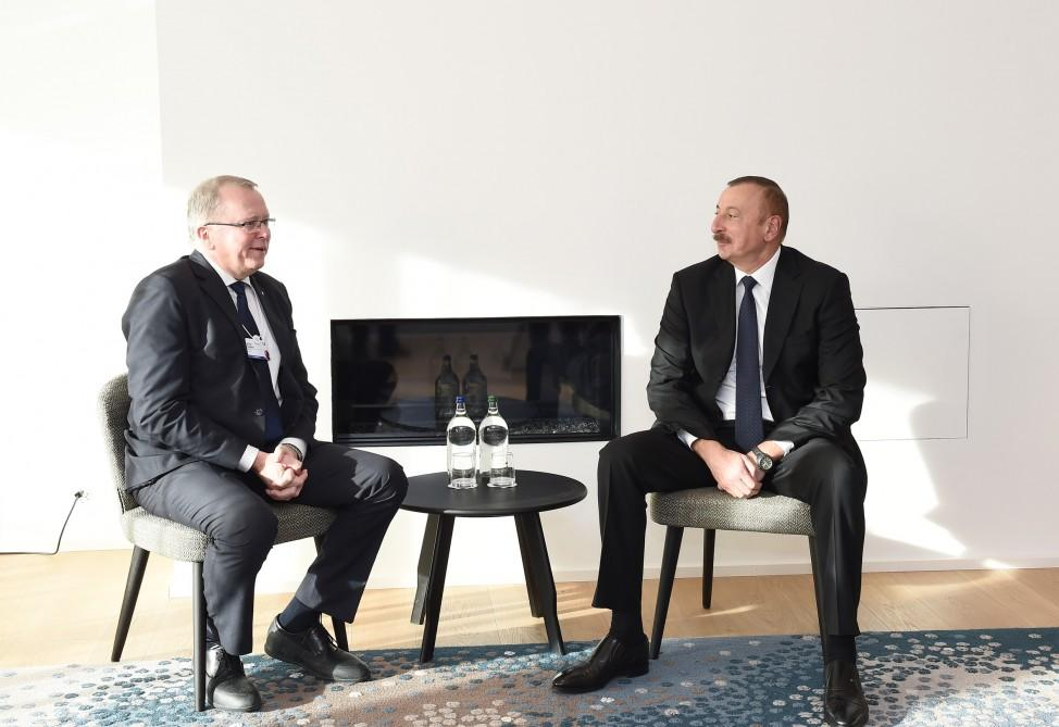 President Aliyev meets with Statoil CEO (PHOTO)