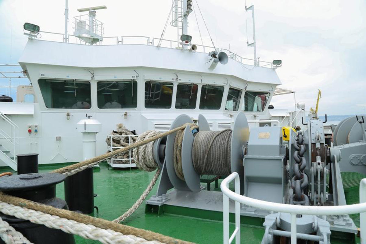 Azerbaijan overhauls vessel to be operated on Trans-Caspian int'l route (PHOTO)