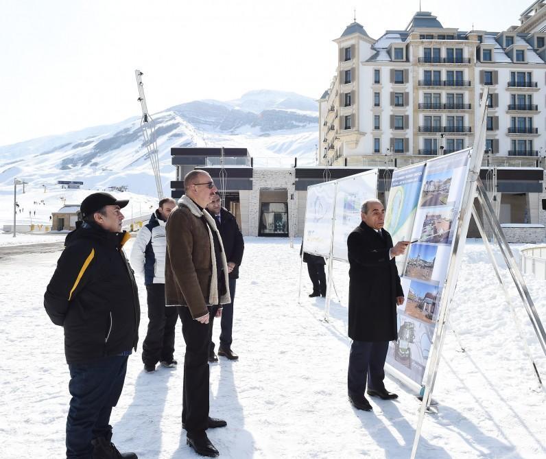 Ilham Aliyev views plans to develop Shahdagh tourism complex (PHOTO)