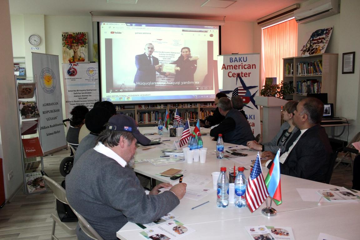 US embassy in Azerbaijan helps people with disabilities receive free legal aid (PHOTO)