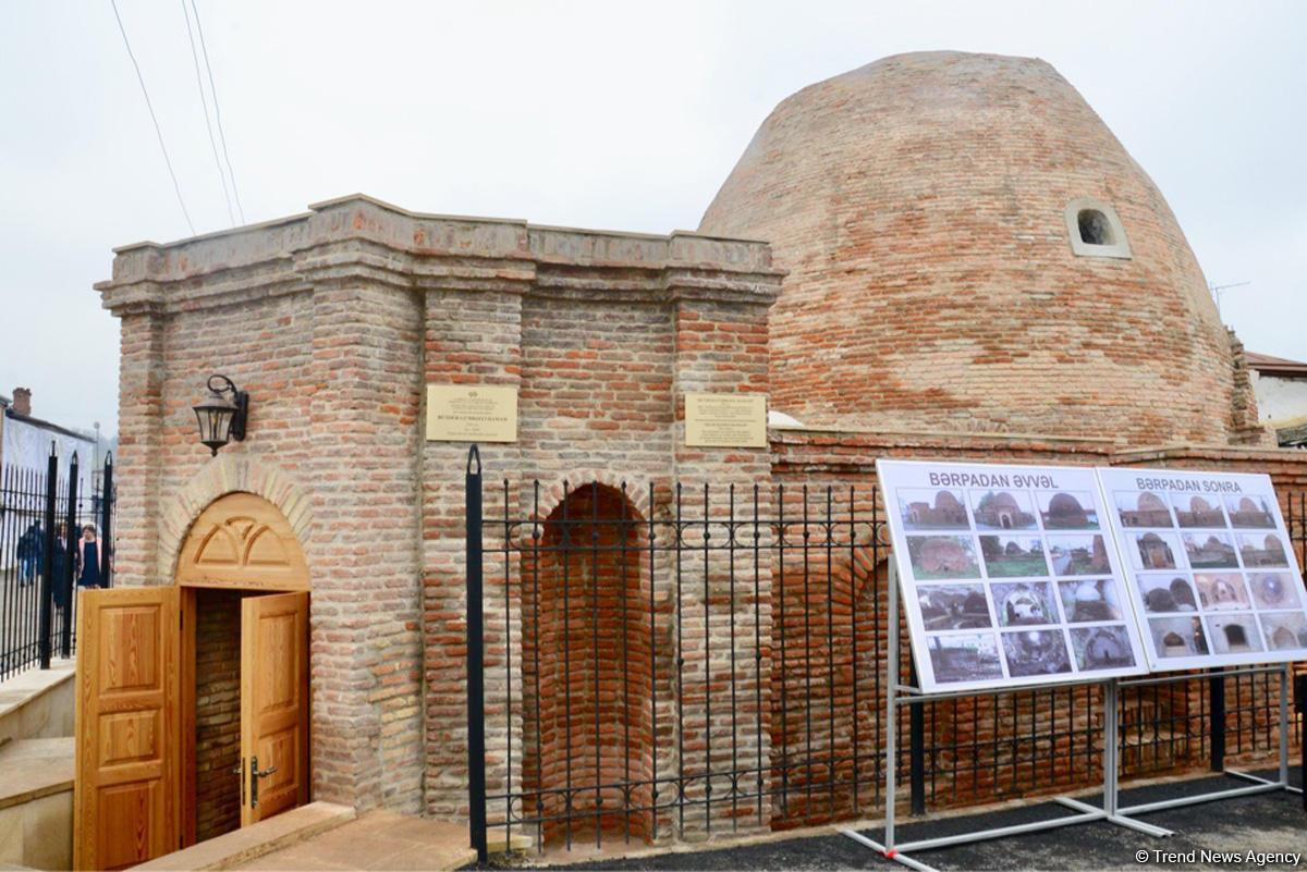 В Губе состоялось открытие древней купольной бани после реставрации