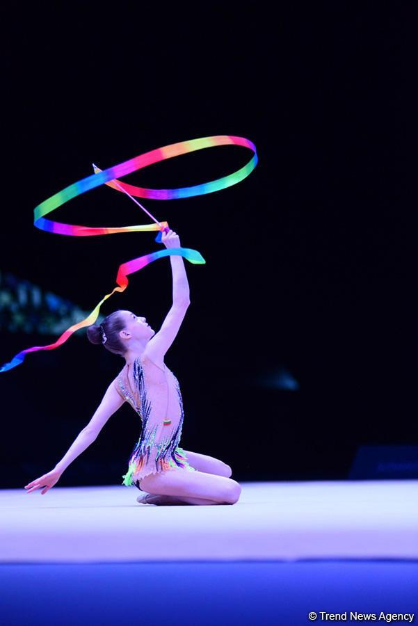 Лучшие моменты c международного юношеского турнира по художественной гимнастике в Баку  (ФОТОРЕПОРТАЖ)