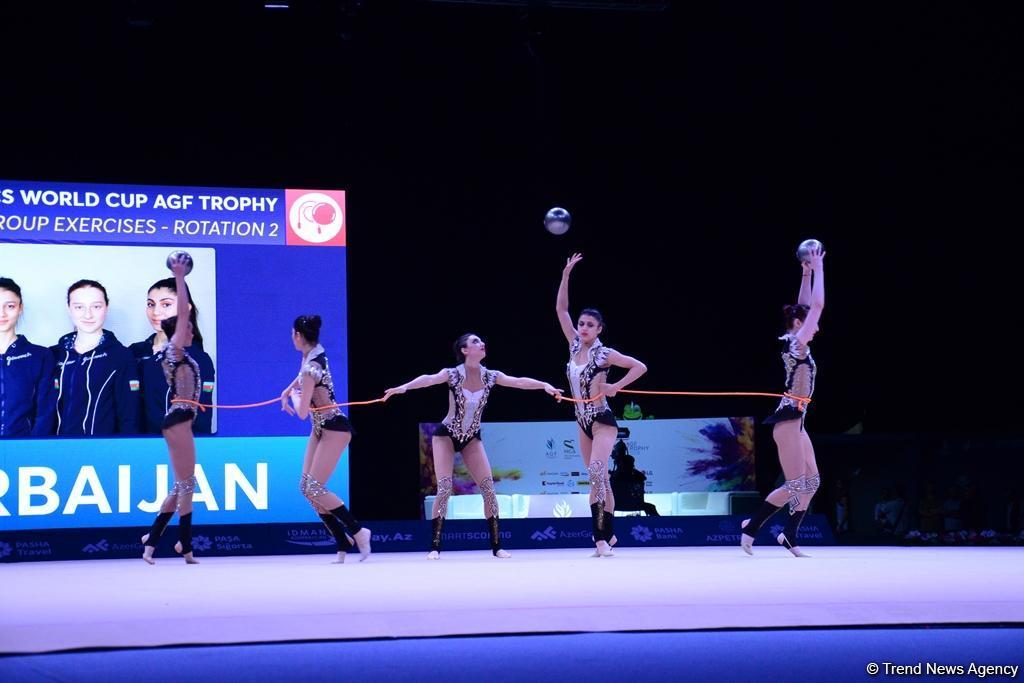 Лучшие моменты второго дня Кубка мира по художественной гимнастике в Баку (ФОТОРЕПОРТАЖ)