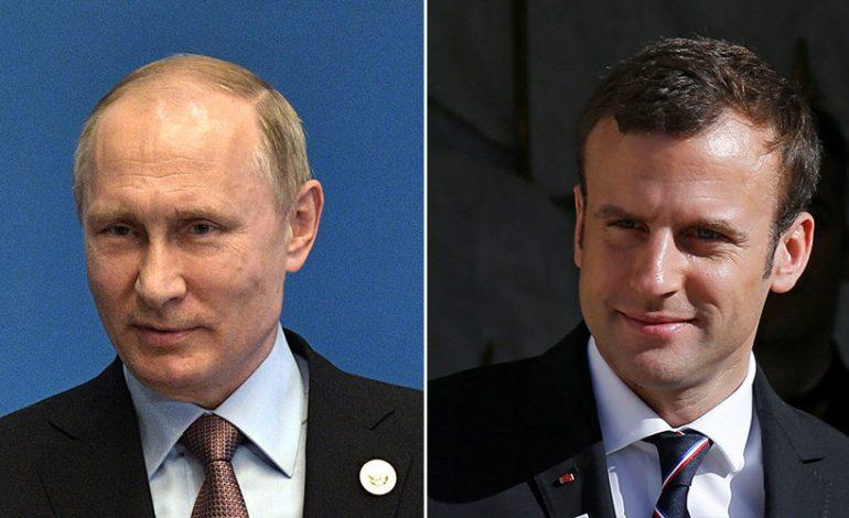 Putin offers condolences to Macron over May 12 terror attack in Paris