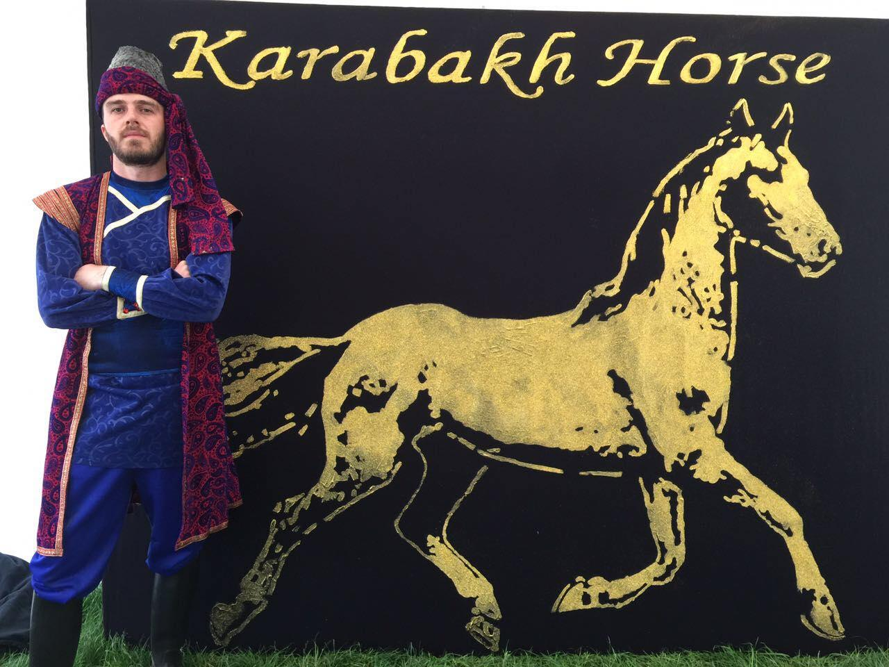 Karabakh horses perform in a show in London (PHOTO)