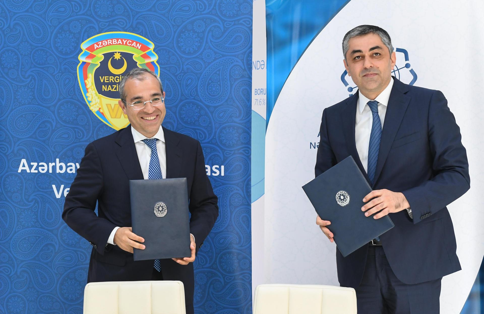 Минсвязи и Минналогов Азербайджана подписали протоколы о намерениях (ФОТО)