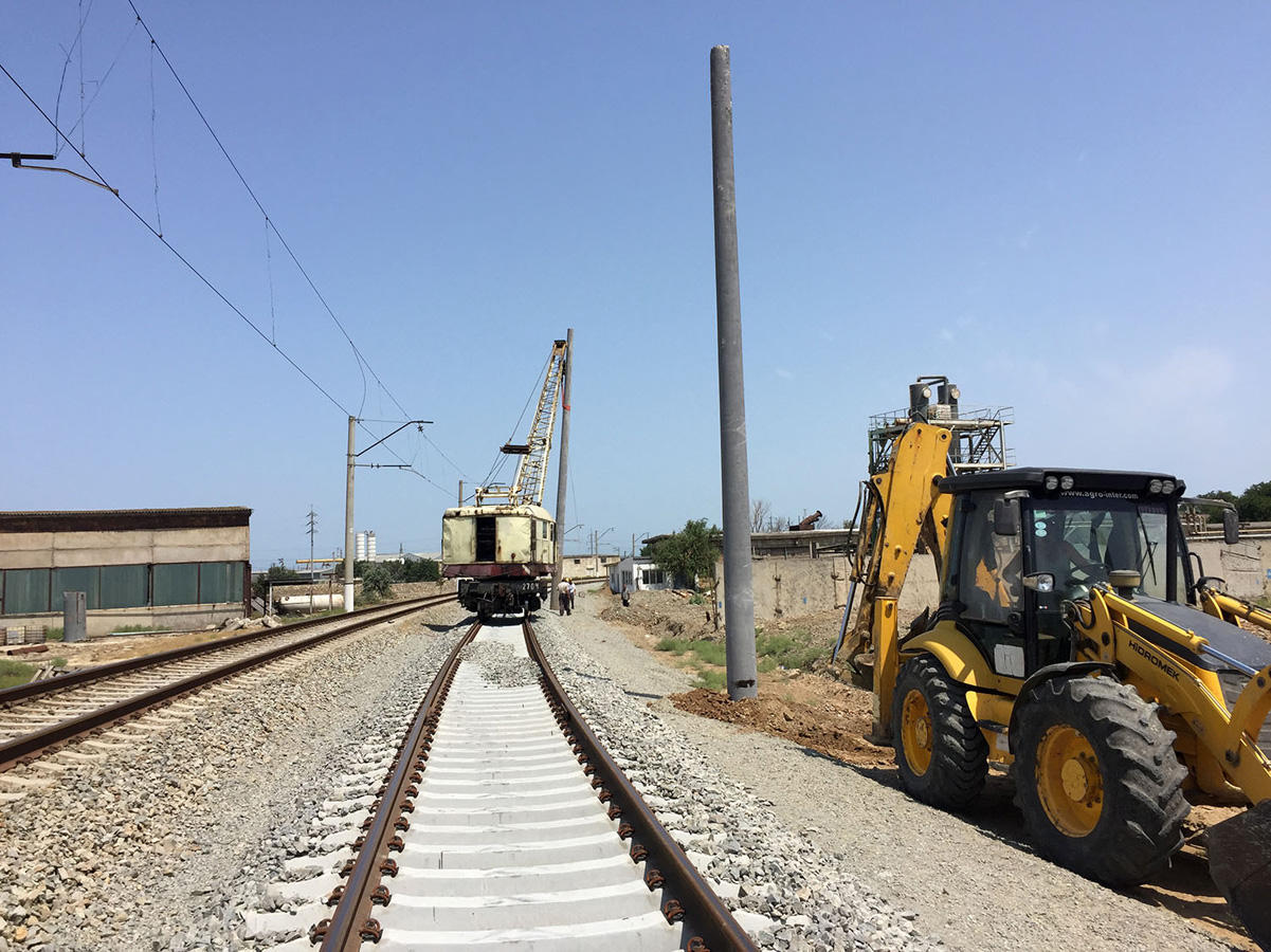 Power supply system of Baku ring railway being reconstructed (PHOTO)
