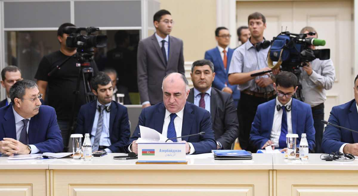 Foreign ministers of Caspian littoral states discuss Summit preparations (PHOTO)