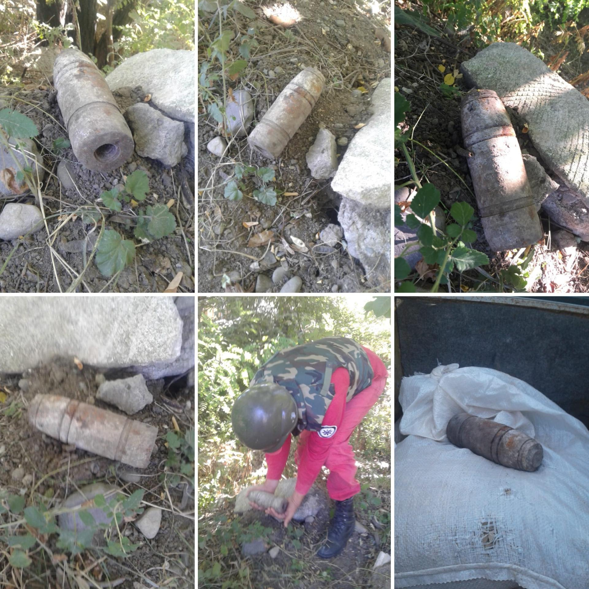 Artillery shell found on territory of Baku State University's branch (PHOTO)