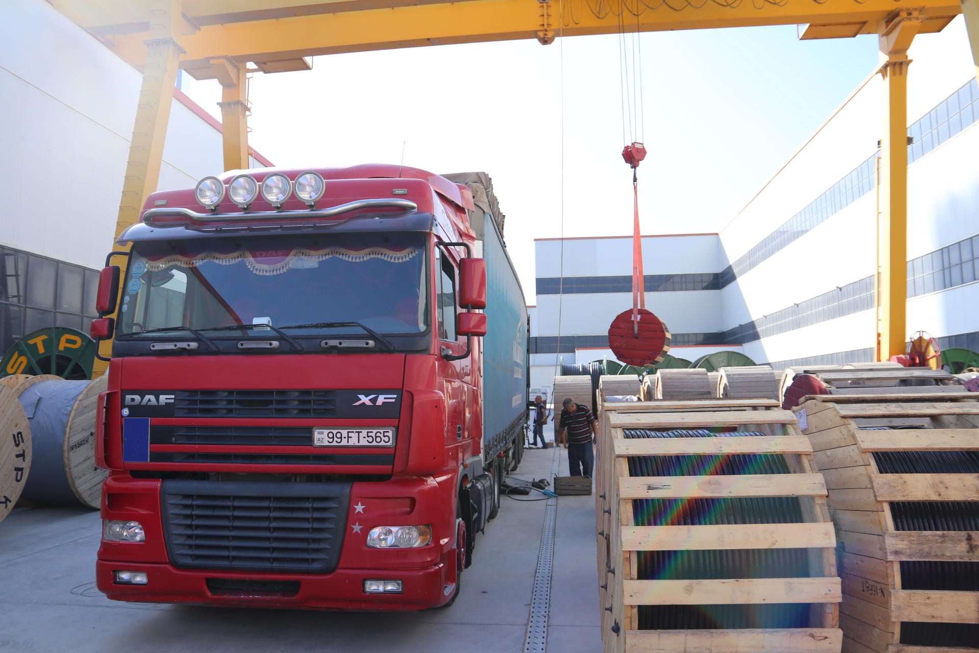Sumgait Technopark exports electric cables to Kyrgyzstan for the first time (PHOTO)