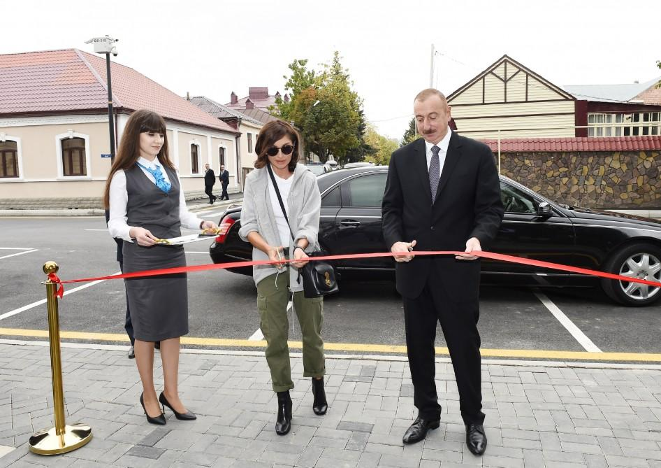 """Azerbaijani president, first lady attend opening of """"ABAD Factory"""" Production Complex in Guba (PHOTO)"""