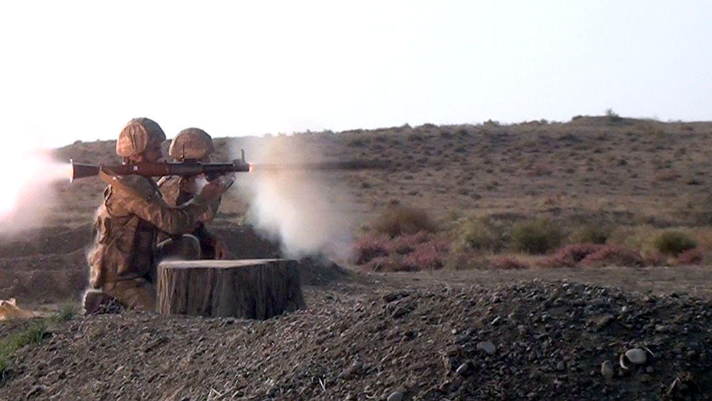 Motorized rifle units of Azerbaijan army conduct shooting drills (PHOTO/VIDEO)