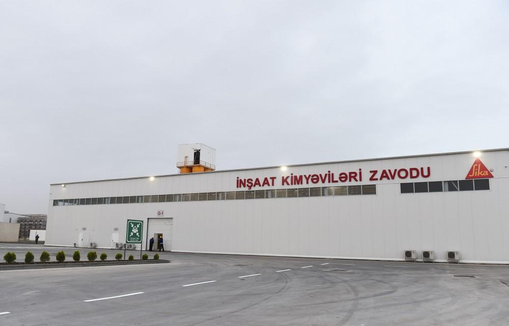 President Aliyev inaugurates construction chemicals plant in Sumgait Chemical Industrial Park (PHOTO)