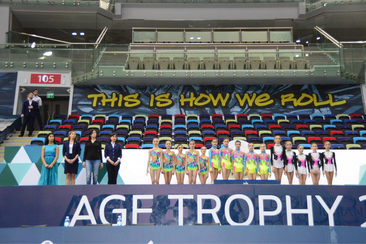 Winners of group exercises of 25th Azerbaijan Championship in Rhythmic Gymnastics awarded