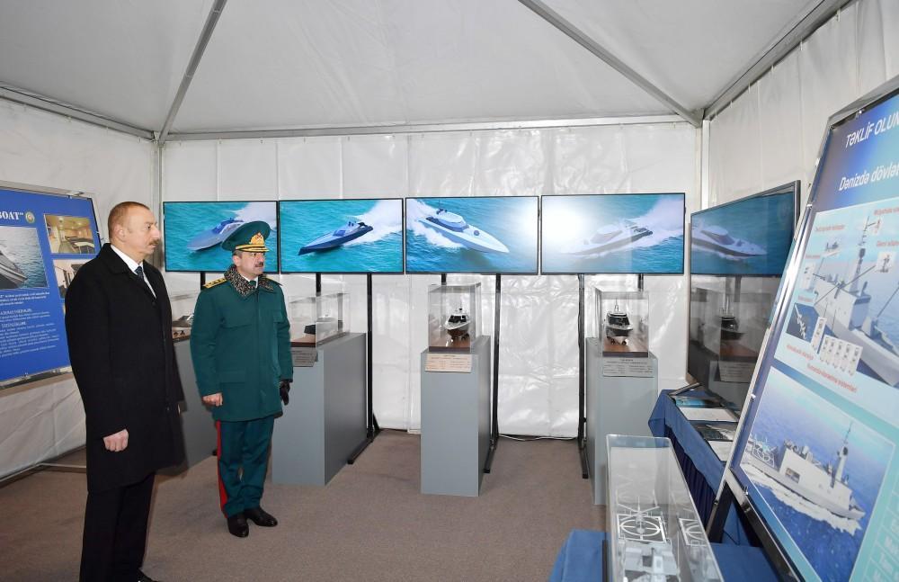 President Ilham Aliyev viewed newly built Tufan type border guard ship