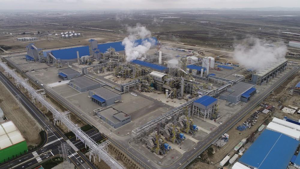 Президент Ильхам Алиев принял участие в открытии завода «SOCAR карбамид» в Сумгайыте (ФОТО)