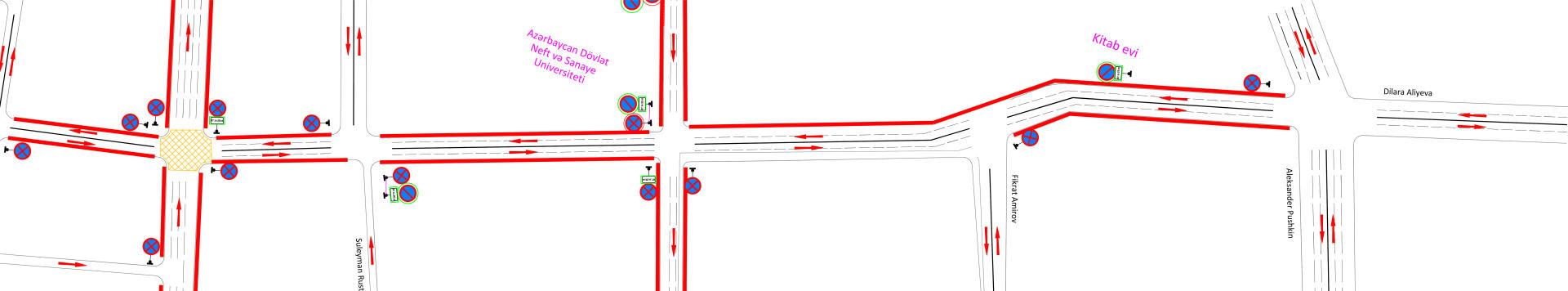 BNA qanunsuz parklanma ilə bağlı 33 yol nişanını dəyişdirdi (FOTO)