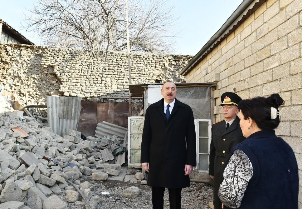 Azərbaycan Prezidenti: Biz bu zəlzələnin fəsadlarını da tezliklə aradan qaldıracağıq